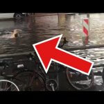 Guy swimming on the street
